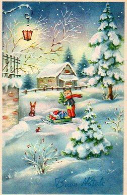 Cartoline Di Natale Depoca.Cartoline D Epoca Natalizie