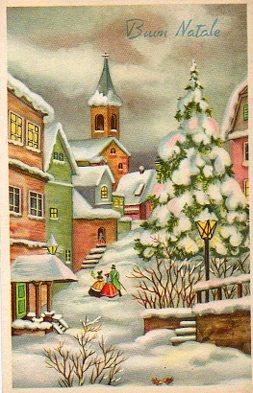 Antiche Immagini Di Natale.Cartoline D Epoca Natalizie